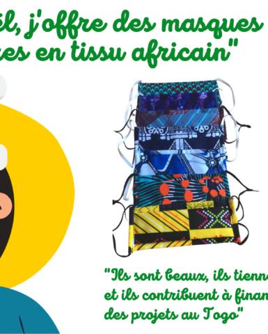 Demandez votre masque en tissu africain (livraison partout en France)