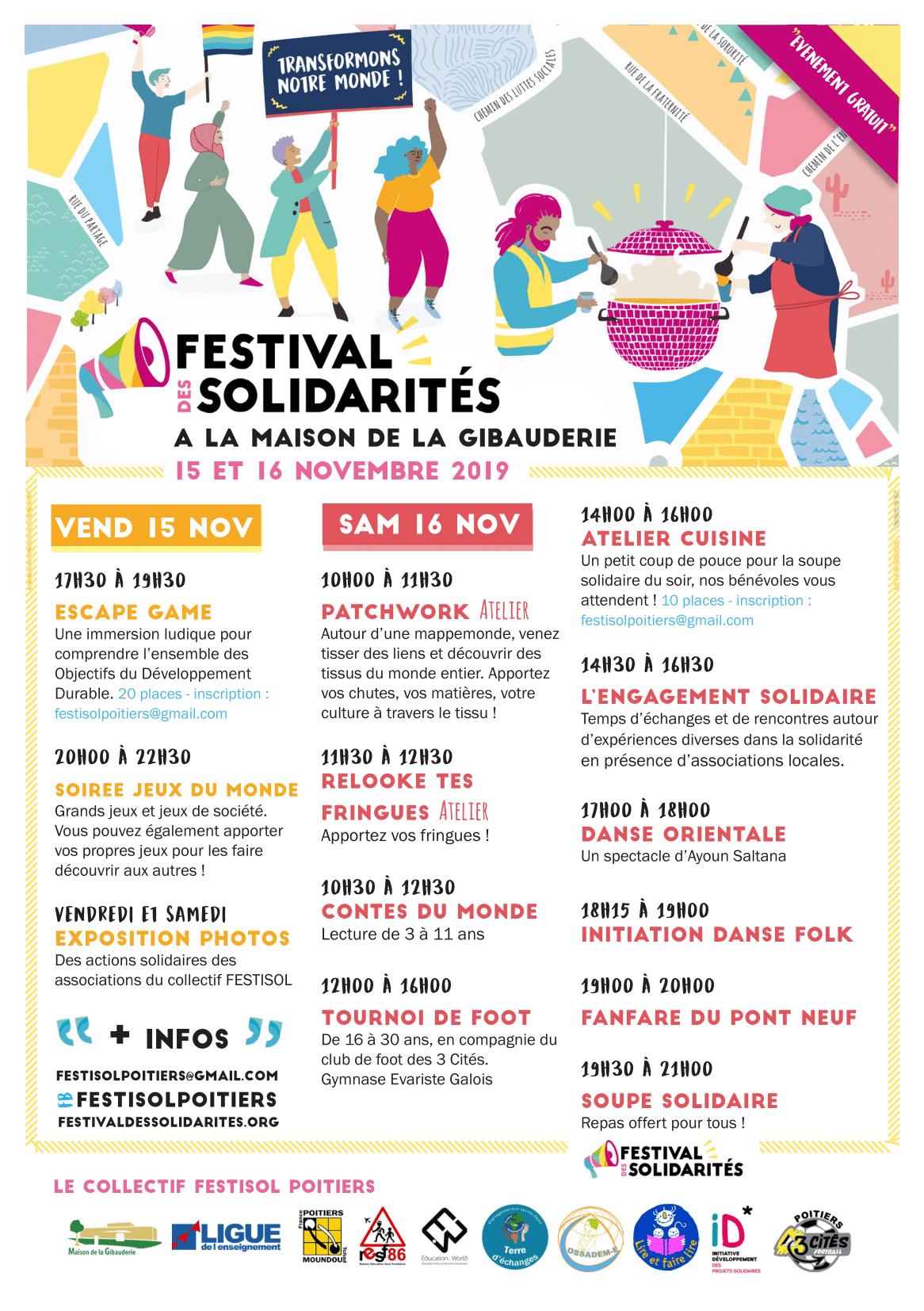 Festisol 2019 Poitiers Programme